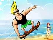 Thumbnail of Johnny Bravo Beach Skating